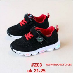 Sepatu LED Hitam Merah idr 115rb per psg