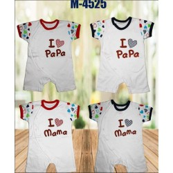 Romper I Love Mama Papa idr 45rb per pc