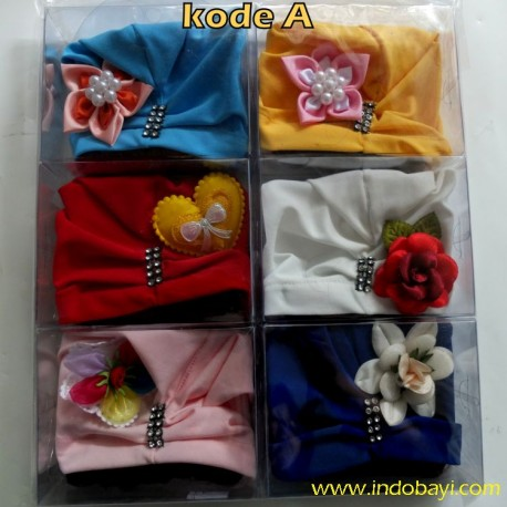 Grosir Turban Poni 0-9bl idr 150rb per 6pc