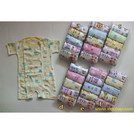 Romper Baby Murah Y Lin uk L 6-12bl idr 120rb per pack isi 5pc