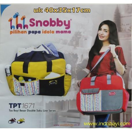 Tas Snooby Line uk 40x35x17cm idr 105rb per pc