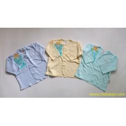 Baju Pendek Libby Polos Warna uk 0-3bl idr 50rb per 4pc, uk 3-6bl idr 55rb per 4pc