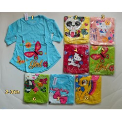 Kaos Tunik Qiuty Jan uk 2y 2-3th idr 25rb per pc