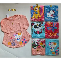 Kaos Tunik Qiuty Jan uk 3y 3-4th idr 25rb per pc