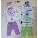 Setelan Koko Baby Muslim Kenaz kode B uk 3-6bl idr 48rb per set