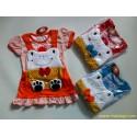 Dress Overal Animal Frog 3-9bl idr 35rb per set, kaos bisa dilepas