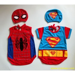 Jumper Superman Spiderman 0-6bl idr 35rb per stel