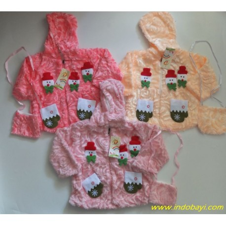 Jaket Anak Baby Girl Boneka Salju uk 1-2th, 2-3th, 3-4th idr 70rb pe rpc