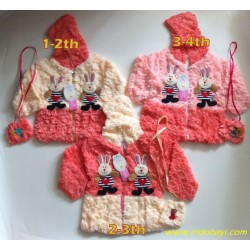 Jaket Anak Baby Girl Rabbit uk 1-2th, 2-3th, 3-4th idr 75rb pe rpc