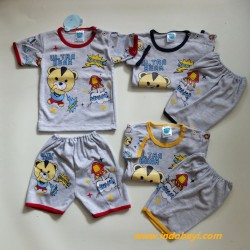 Setelan Papanda Ultra Bear 1-2th idr 35rb per stel, tebel, haluss