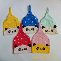 Kupluk Baby Panda 0-12bl idr 40rb per pc