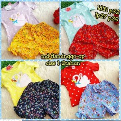 Setelan Flamingo Uk 1-2th idr 51rb per stel