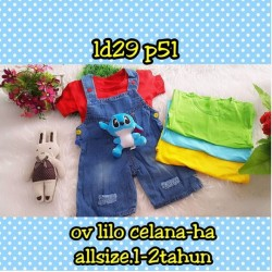 Setelan Overall Baby Lilo uk 1-2th idr 75rb per set