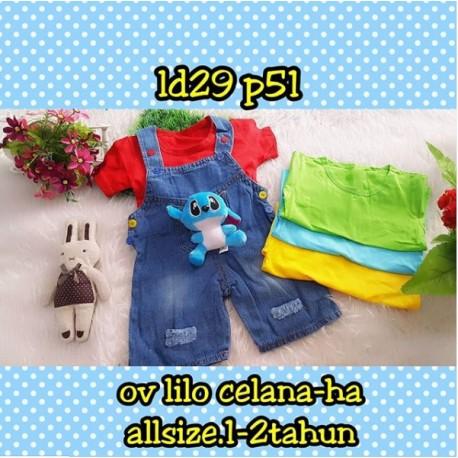 Setelan Overall Baby Lilo uk 1-2th idr 75rb per set