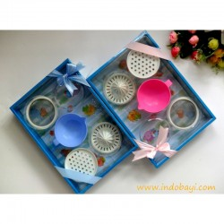 Feeding Set Kiddy idr 48rb per set Saringan Bubur, Pemeras Jeruk, Parutan